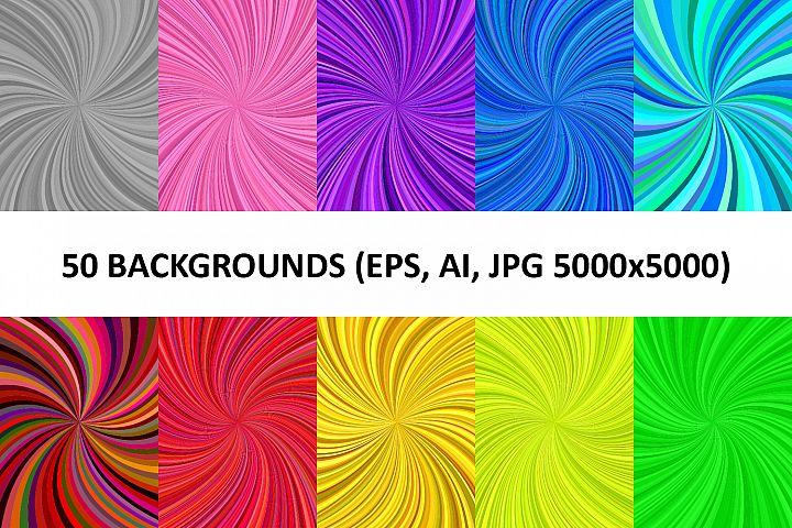 50 Spiral Backgrounds AI, EPS, JPG 5000x5000