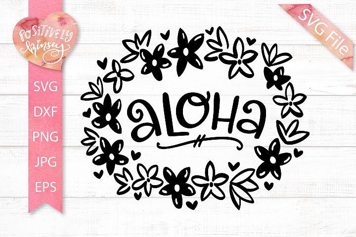 Aloha SVG, Hawaii SVG File, Frangipani Flowers, Summer SVG