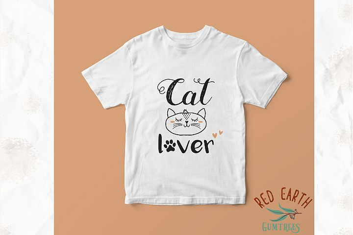 Cat lover, cat with lashes in SVG,DXF,PNG,EPS, PDF formats