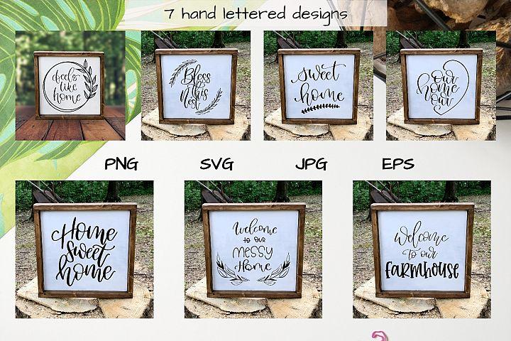 Home bundle svg files wooden sign