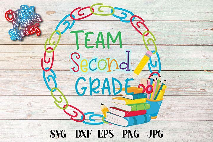 Team Second Grade SVG, Second Grade Tribe Sublimation