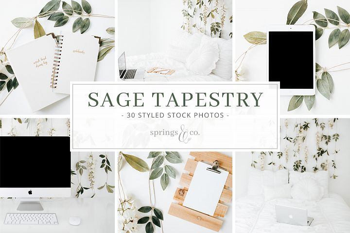 Sage Tapestry Stock Photo Bundle
