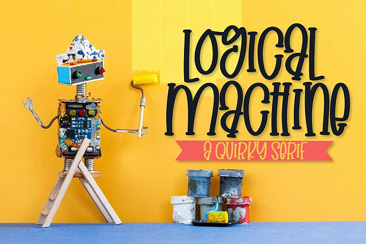 Logical Machine - A Quirky Serif Type