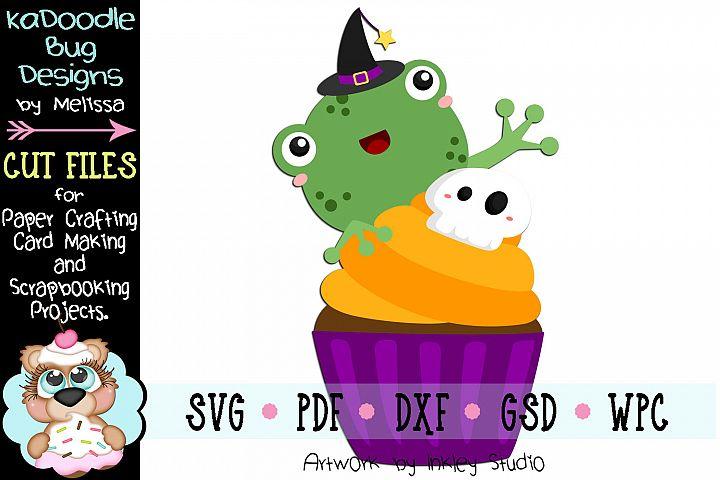 Halloween Cupcake Frog Cut File - SVG PDF DXF GSD WPC