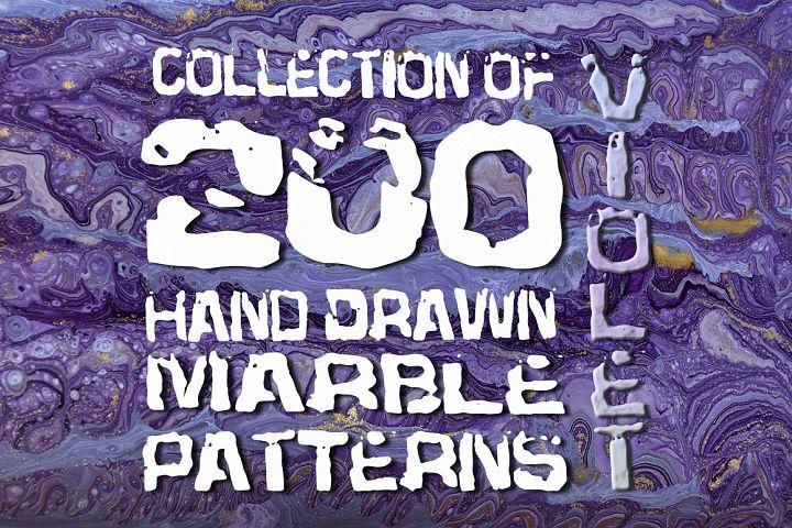 Set of 200 marble violet backgrounds
