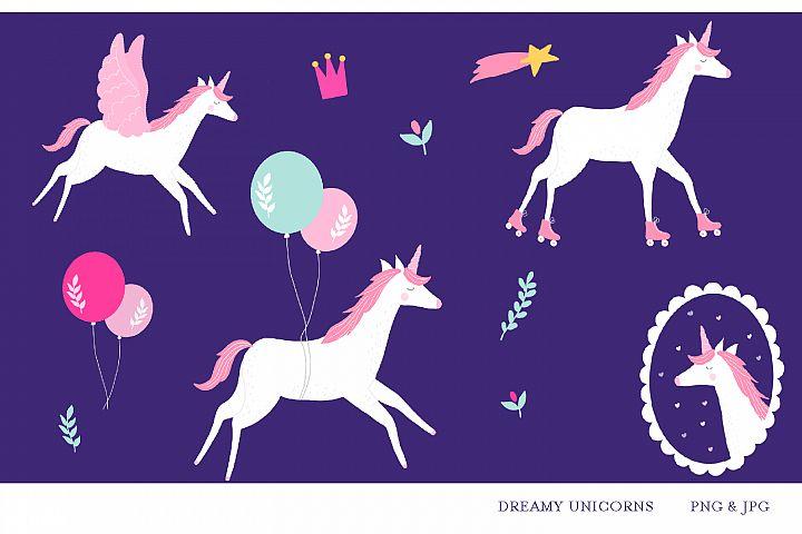 Birthday Unicorns- jpg, png, high quality detail, 300 dpi