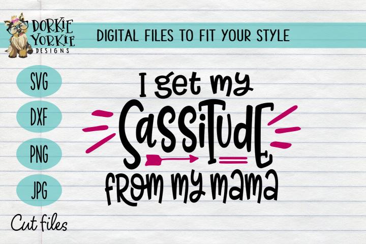 I get my sassitude from my mama - sassy, attitude, funny SVG
