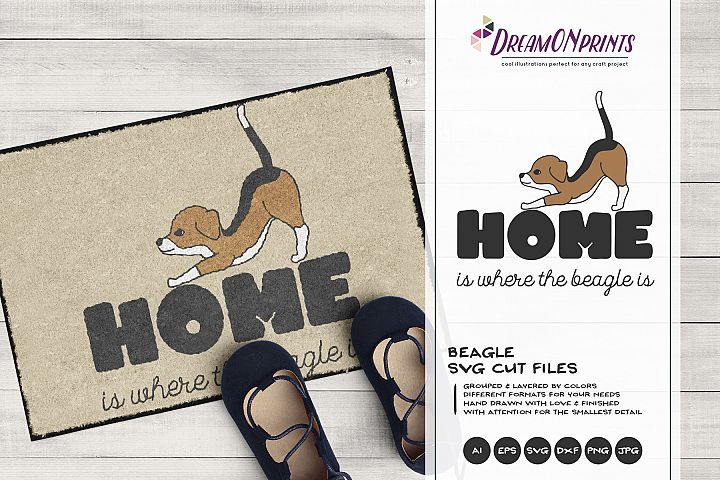 Beagle SVG - Home is Where theBeagle is