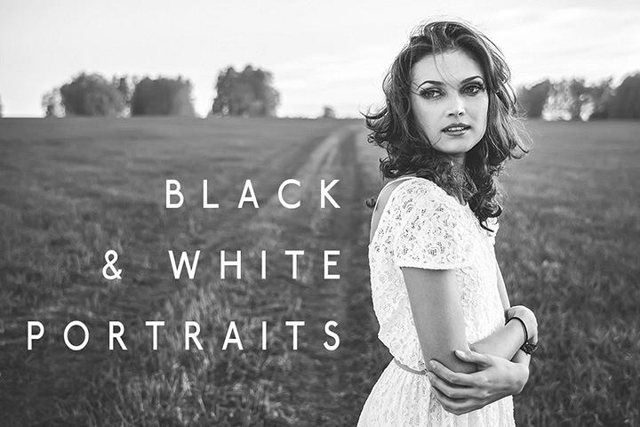 Black & White Portraits Lightroom Presets