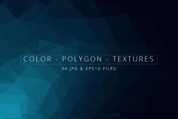 Colorful Low Poly Geometric Digital Papers Eps10 and JPG