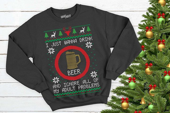 I just wanna drink beer Christmas Printable