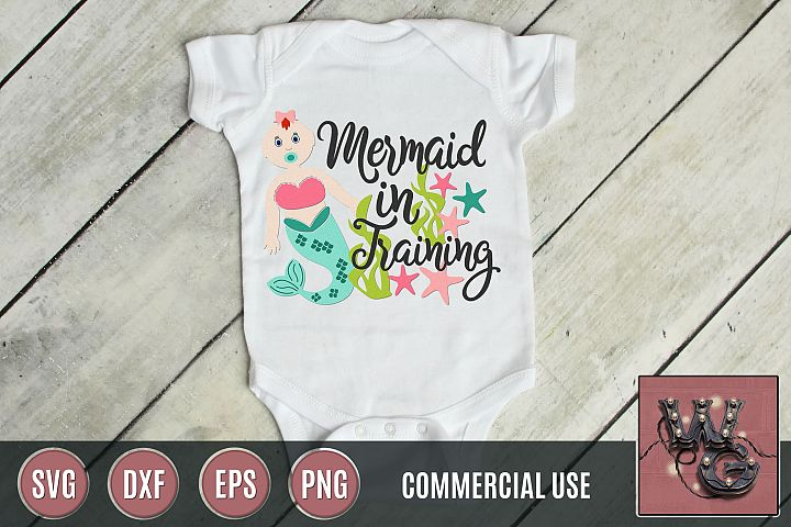 Mermaid In Training SVG DXF PNG EPS Comm