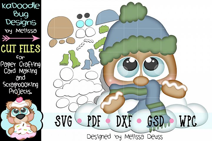 Snowy Ginger Cut File - SVG PDF DXF GSD WPC