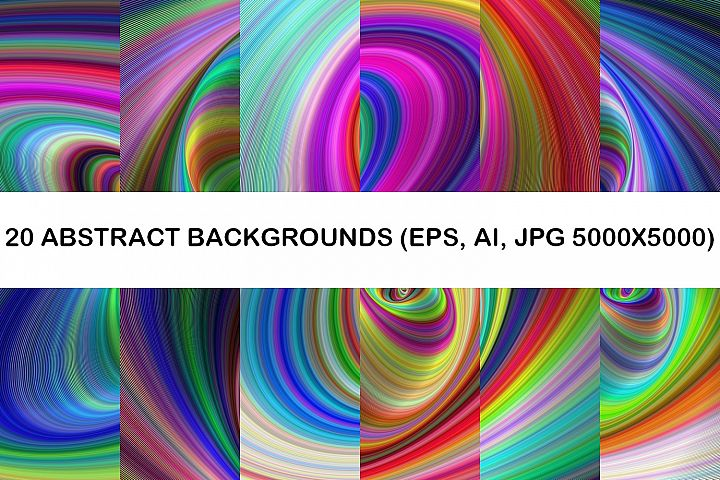 20 Abstract Backgrounds AI, EPS, JPG 5000x5000