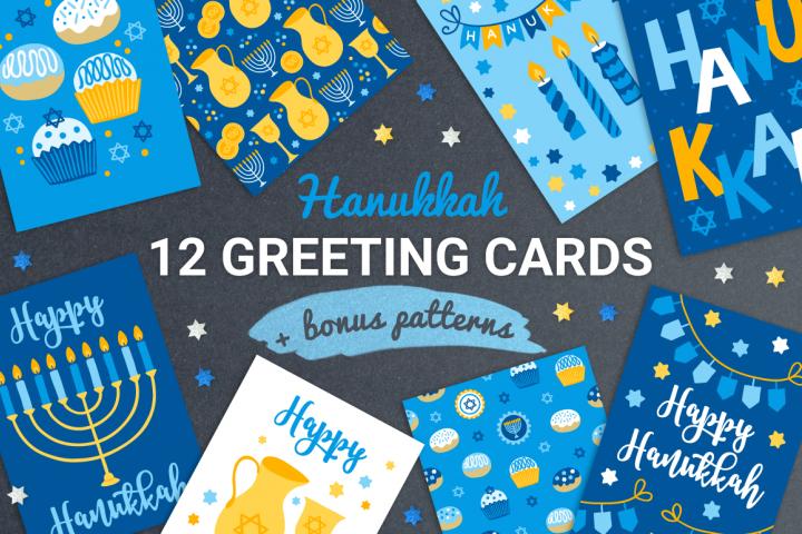 12 Hanukkah Cards & Bonus Patterns