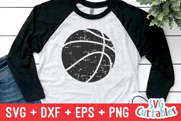 Distressed Basketball | SVG Cut File