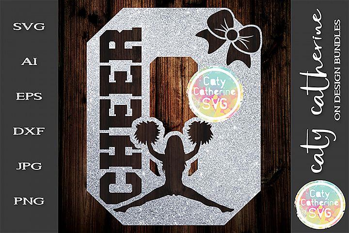 Letter O Cheerleading Monogram Letters SVG Cut File