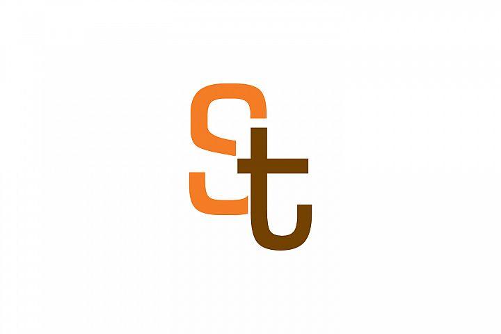 st letter logo