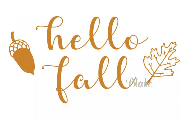 Hello fall svg Fall svg fall leavest-shirt svg autumn svg