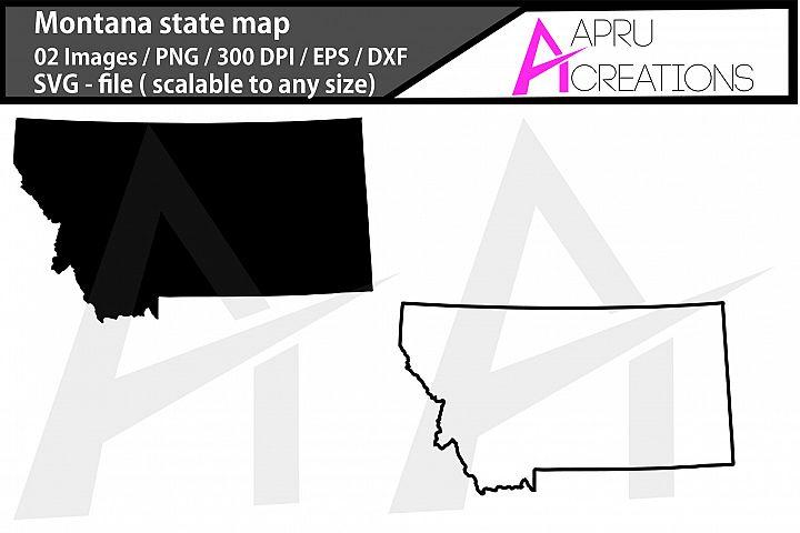montana state map/ montana outline map