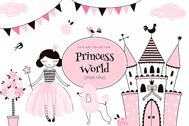 Princess World clip-arts kit