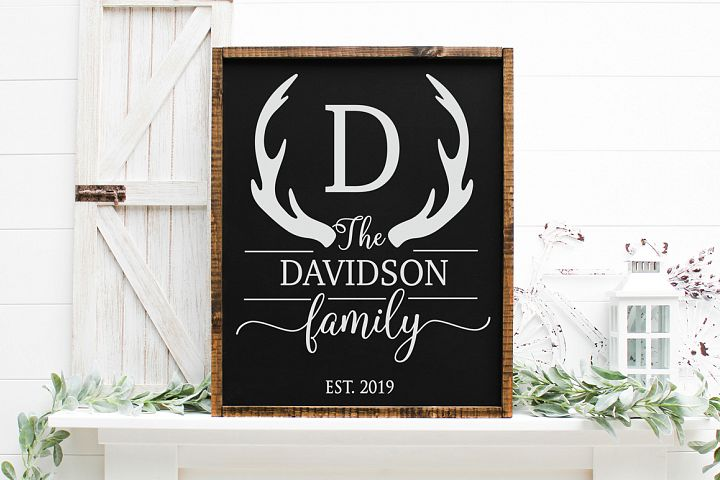 Customizable Family Name SVG - Home Decor SVG