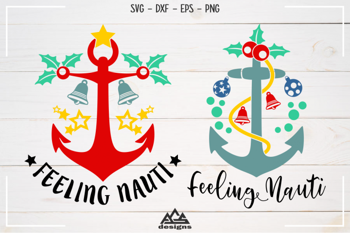 Feeling Nauti Nautical Christmas Svg Design