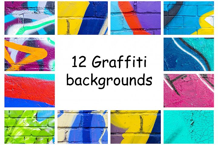 A collection of a colrful graffiti abstract backgrounds.