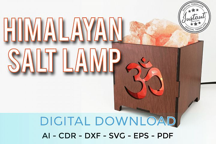Home laser cut vector salt lamp