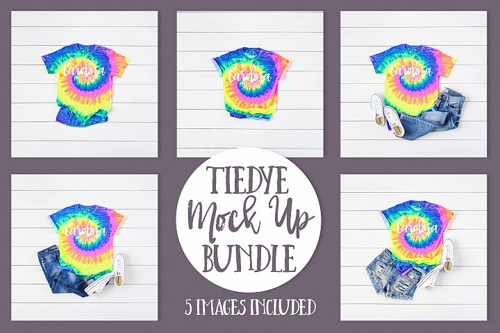 Tie-Dye CD100 Neon Rainbow Mock Up Bundle