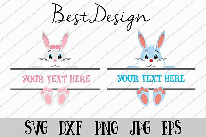 Easter Bunny Svg, Easter Monogram Svg Vectors