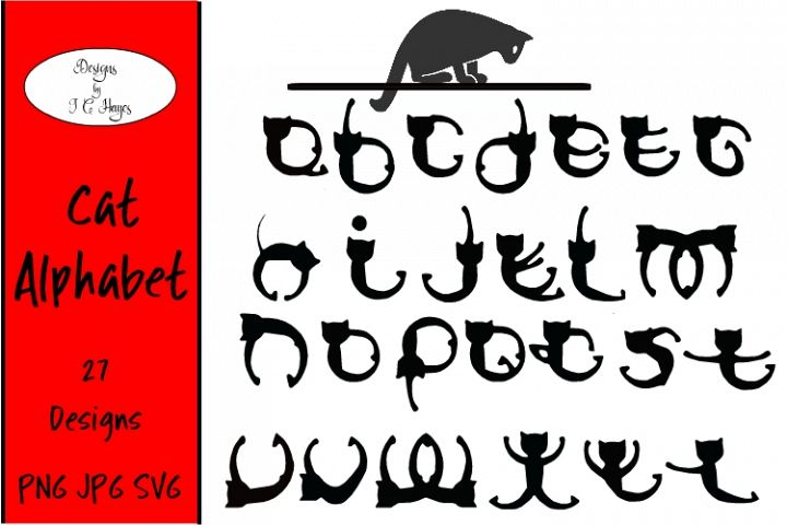 Cat Alphabet, SVG