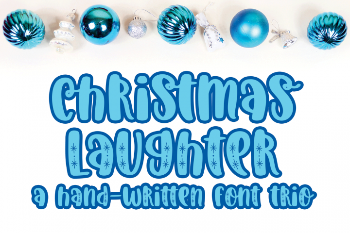 Christmas Laughter - A Holiday Hand-Written Font Trio