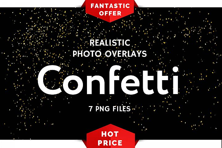7 Confetti Photo Overlays