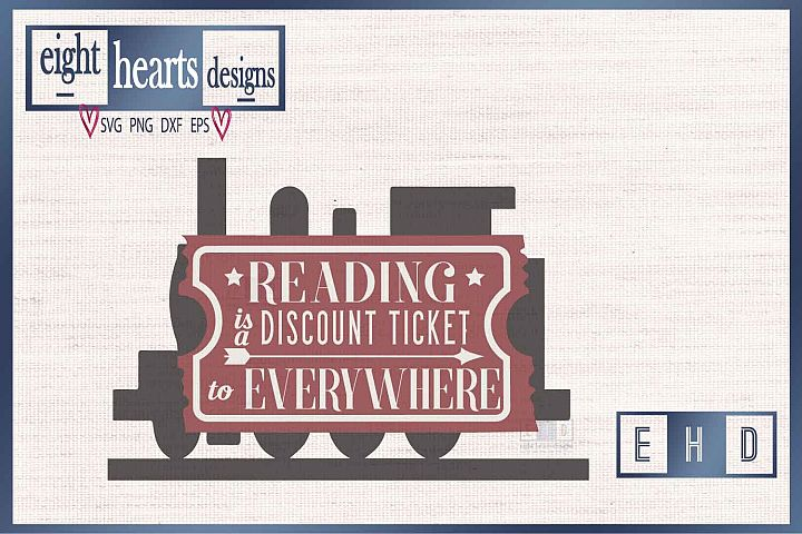 Reading Ticket -SVG PNG EPS DXF - Great quality Cut design