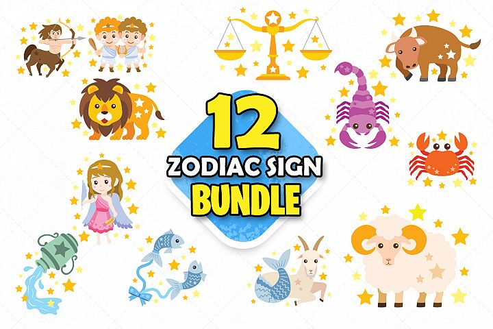 Zodiac sign clipart svg zodiac art scrapbooking clipart gift