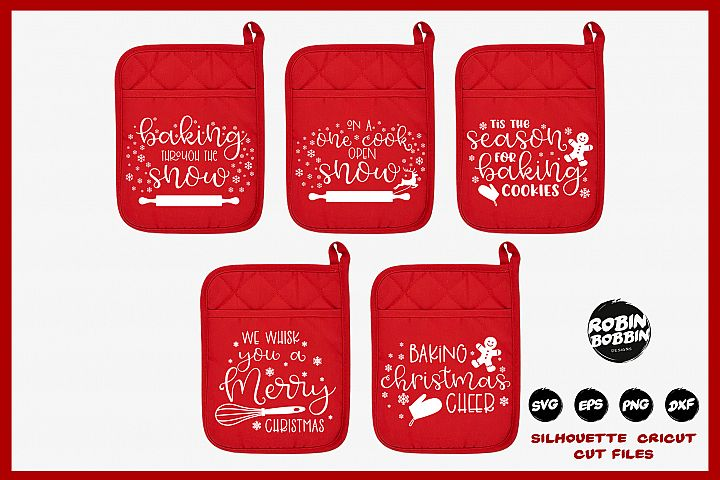 Christmas Pot Holder Bundle SVG - Vol.1