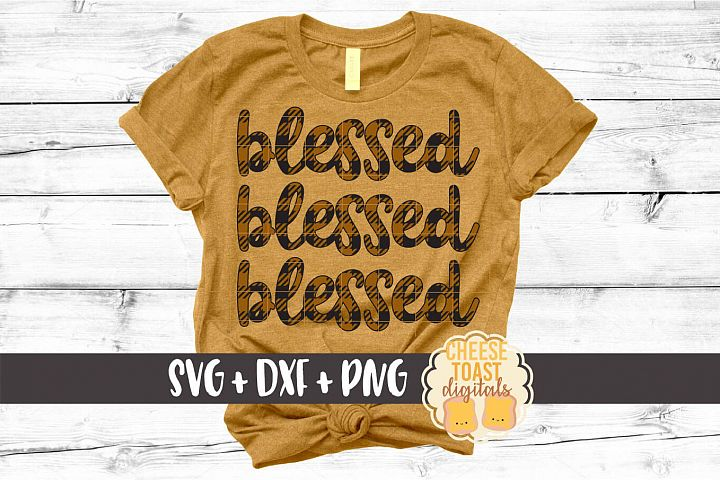Blessed Blessed Blessed - Buffalo Plaid Thanksgiving SVG