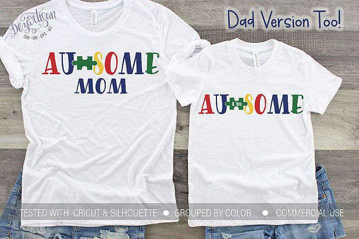 Im Au-some Autism awareness Mom SVG