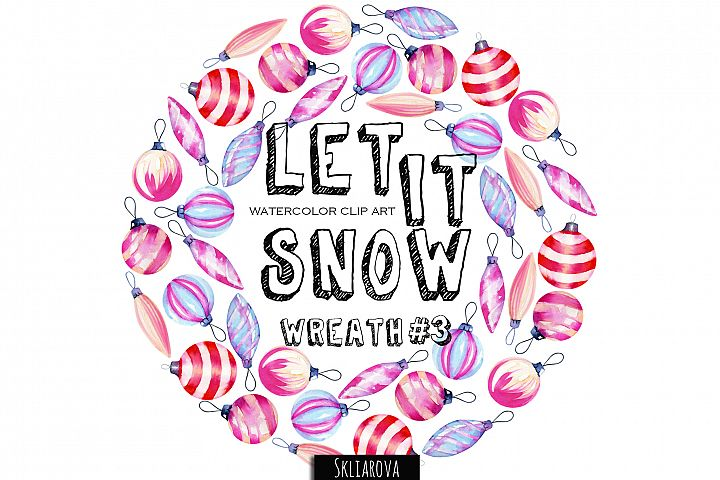 Let it snow. Wreath #3