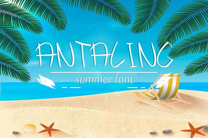Antaling Summer Font