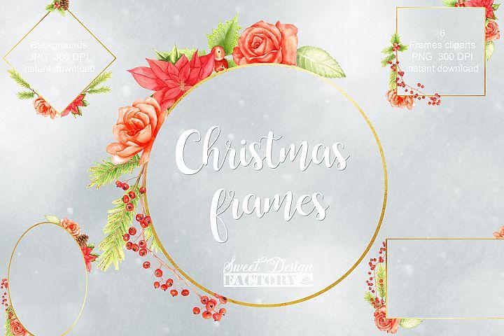 Christmas frames clipart