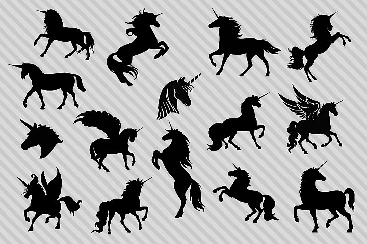 Unicorn svg bundle, unicorn silhouette svg, unicorn clipart