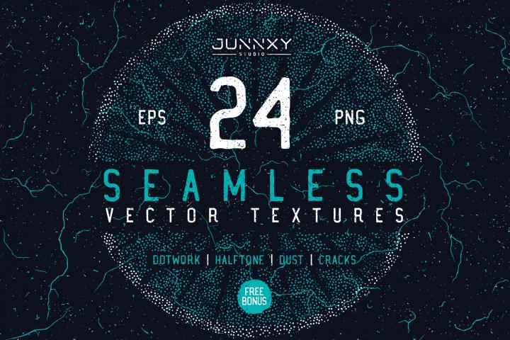 24 Seamless Vector Textures