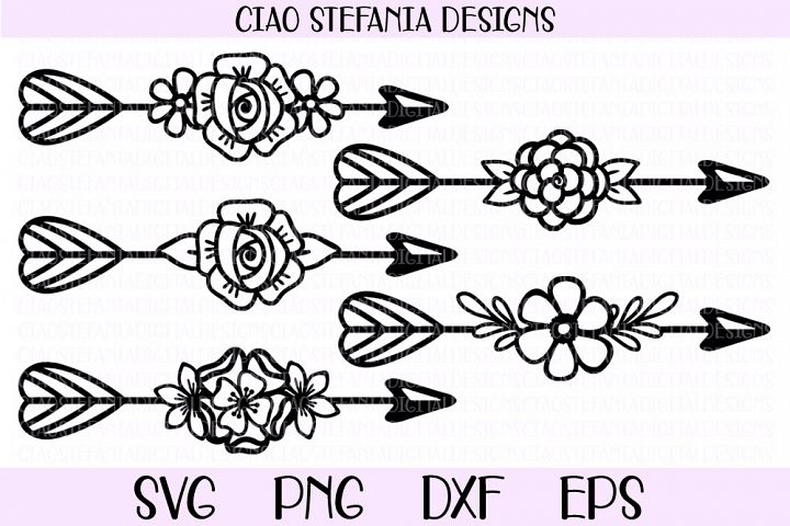 Floral Arrows SVG Bundle Boho Flowers