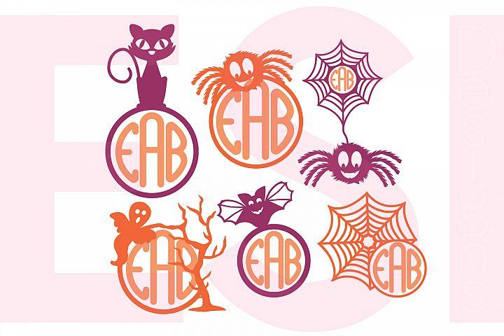 Halloween Monogram Designs - Set 1