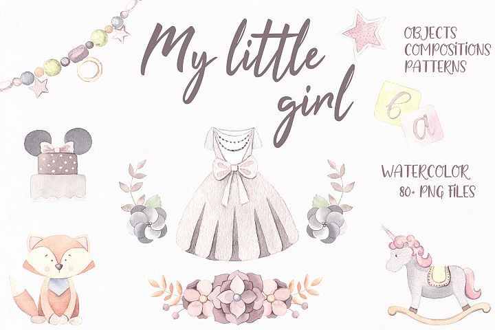My little girl watercolor set