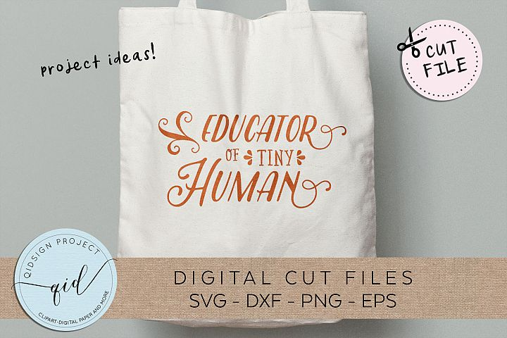 Educator of Tiny Human SVG DXF PNG EPS