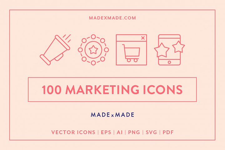 Line Icons - Marketing