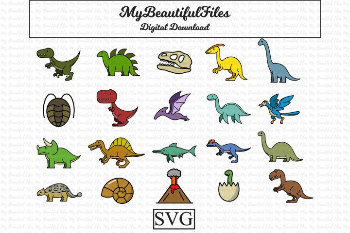 Doodle Dinosaur SVG Bundle for Kids